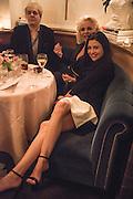 NICK RHODES; AMANDA ELIASCH; NEFER SUVIO, Nicky Haslam hosts dinner at  Gigi's for Leslie Caron. 22 Woodstock St. London. W1C 2AR. 25 March 2015