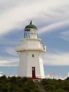 View of Waipapa Lighthouse, south coast of the South Island, New Zealand
