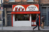 Ed's barber shop in Dublin city centre Ireland