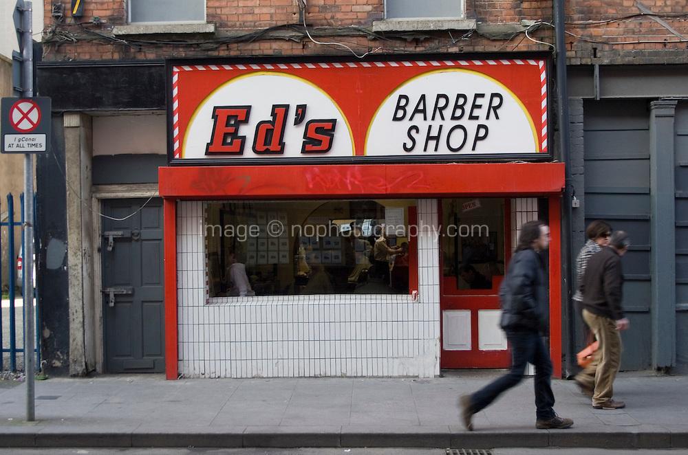 Ed's barber shop in Dublin city centre Ireland