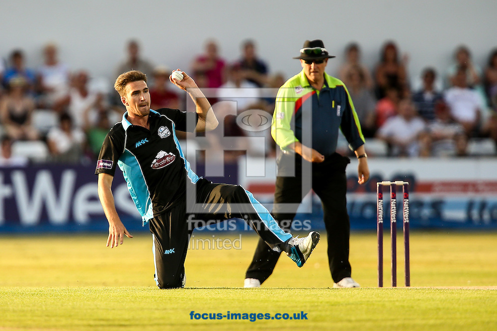 Jack Shantry of Worcestershire Rapids fielding during the Natwest T20 Blast match at the County Ground, Northampton<br /> Picture by Andy Kearns/Focus Images Ltd 0781 864 4264<br /> 18/07/2014