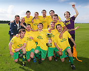 Hilltown Hotspur celebrate wight eh Asamson Cup after beating  DC Athletic in the final at the University Grounds, Riverside<br /> <br />  - &copy; David Young - www.davidyoungphoto.co.uk - email: davidyoungphoto@gmail.com