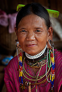 Women of Big Ear Hill Tribe in the near of Chiang Rai, Thailand.