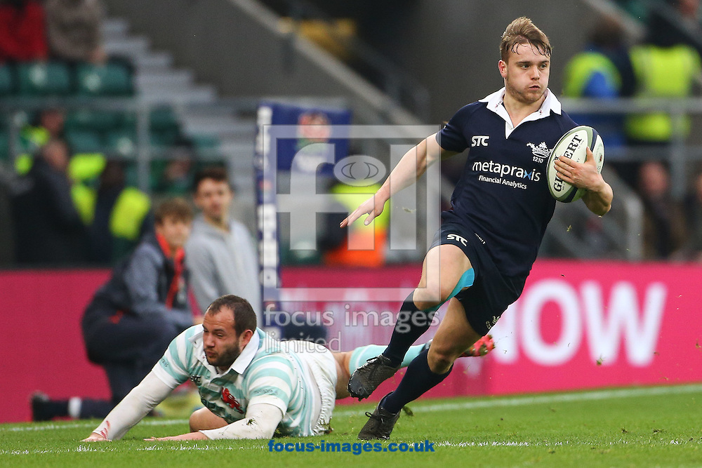 Edward David of Oxford University evades a tackle during The Varsity Match at Twickenham Stadium, Twickenham<br /> Picture by Mark Chappell/Focus Images Ltd +44 77927 63340<br /> 08/12/2016