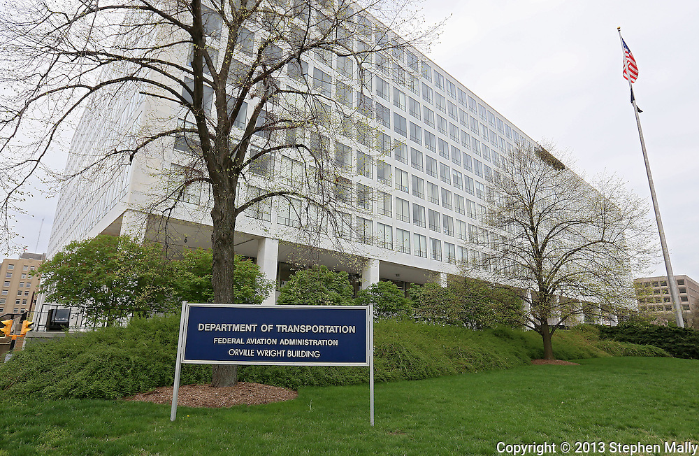 The Federal Aviation Administration (FAA) part of the Department of Transportation in the Orville Wright Building in Washington, DC on Monday, April 15, 2013.