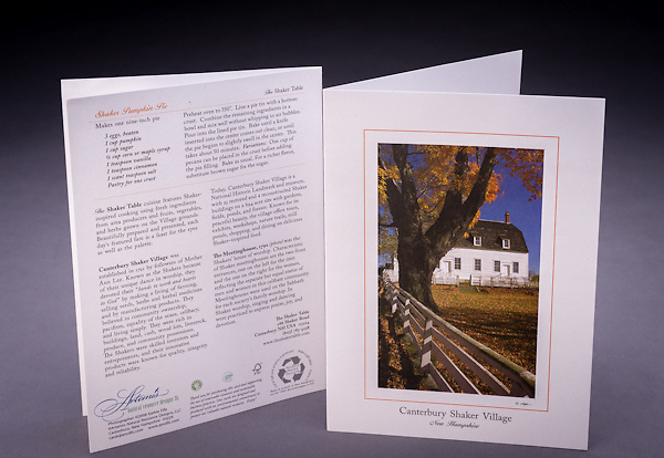 A beautiful fall scene at Canterbury Shaker Village.  Can you smell the freshly baked Shaker Pumpkin Pie in the crisp fall air?  Includes recipe and historical anecdotes. <br />