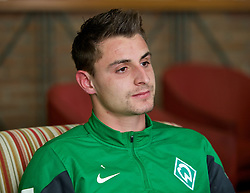 11.01.2014, Trainingsplatz, Jerez de la Frontera, ESP, 1. FBL, SV Werder Bremen, Trainingslager, im Bild Sebastian Mielitz (SV Werder Bremen #1) beim Interview // Sebastian Mielitz (SV Werder Bremen #1) beim Interview during Trainingsession of German Bundesliga Club SV Werder Bremen at Trainingsplatz in Jerez de la Frontera, Spain on 2014/01/11. EXPA Pictures © 2014, PhotoCredit: EXPA/ Andreas Gumz<br /> <br /> *****ATTENTION - OUT of GER*****