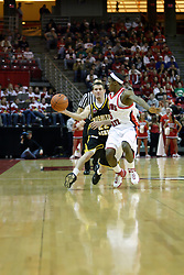 "18 January 2007: Keith ""Boo"" Richardson and Matt Braeuer. The Shockers of Wichita State were shut off by the Redbirds by a score of 83-75 at Redbird Arena in Normal Illinois on the campus of Illinois State University."