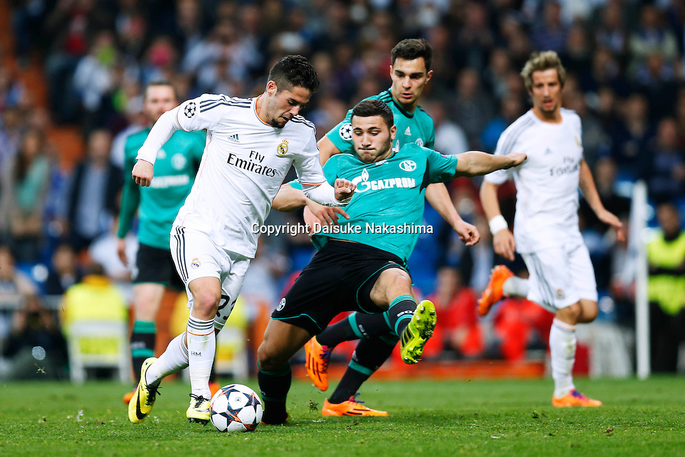 Isco (Real), MARCH 18, 2014 - Football / Soccer : UEFA Champions League Round of 16, 2nd leg match between Real Madrid 3-1 FC Schalke 04 at Estadio Santiago Bernabeu in Madrid, Spain. (Photo by D.Nakashima/AFLO)