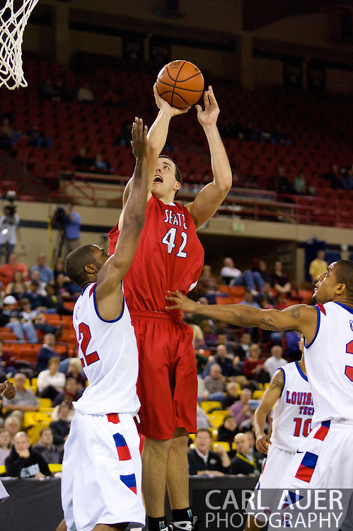 November 27, 2008: Seattle University forward Austen Powers (42) elevates to the hoop in the opening round of the 2008 Great Alaska Shootout at the Sullivan Arena