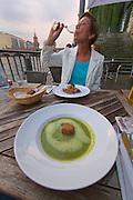 Berlin, Germany. Rio Grande restaurant at a former ship landing site at Spree river.