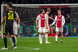 10-04-2019 NED: Champions League AFC Ajax - Juventus,  Amsterdam<br /> Round of 8, 1st leg / Ajax plays the first match 1-1 against Juventus during the UEFA Champions League first leg quarter-final football match / Daley Blind #17 of Ajax, Frenkie de Jong #21 of Ajax