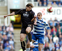 Photo: Leigh Quinnell.<br /> Reading v Portsmouth. The Barclays Premiership. 17/03/2007. Portsmouths Niko Kranjcar rises above readings James Harper.