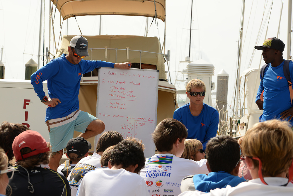 Clinic prior to 2014 Spring Fling at Coral Reef Yacht Club in Coconut Creek, Miami, CRYC coaches Leor, Ian, Omari,