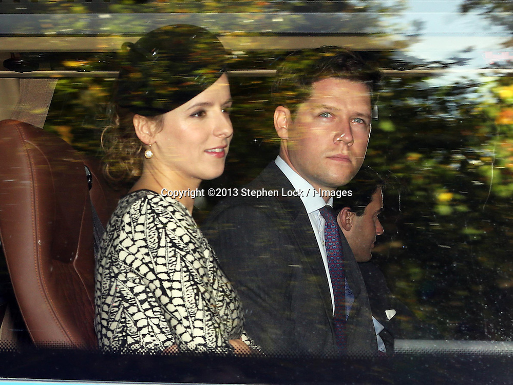 Emilia Jardine-Paterson and husband David arriving at  Prince George's  christening at St.James's Palace in London, Wednesday, 23rd October 2013. Picture by Stephen Lock / i-Images