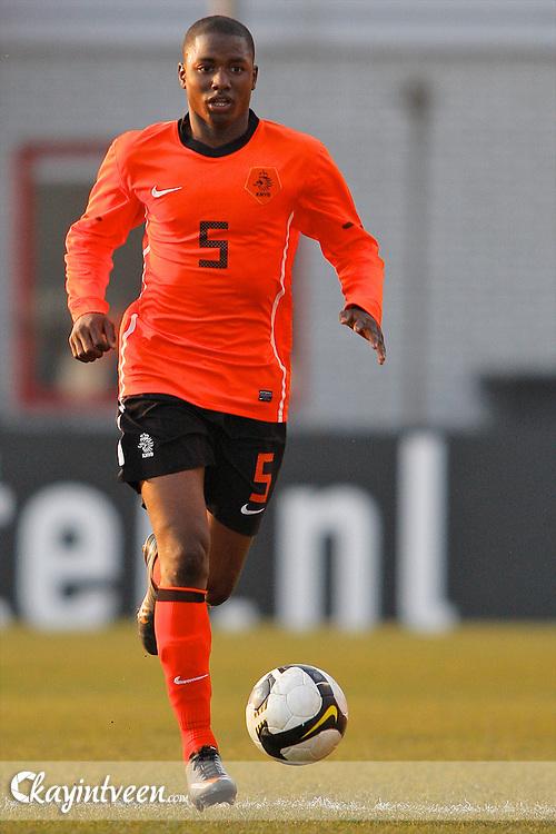 ROTTERDAM - Nederland - Portugal, EK Kwalificatie onder 17, 29-03-2011, Sportcomplex Varkenoord, Jetro Willems