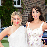 Olivia Cox, Hayley Sparkes attends the 2018 Grand Prix Ball held at The Hurlingham Club on July 4, 2018 in London, England.