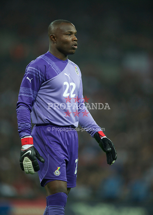 LONDON, ENGLAND - Tuesday, March 29, 2011: Ghana's goalkeeper Richard Kingson in action against England during the international friendly match at Wembley Stadium. (Photo by David Rawcliffe/Propaganda)