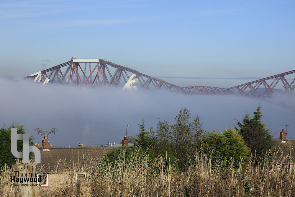 Edinburgh Forth Bridges in Fog 09-11-09