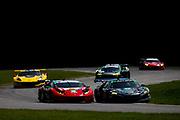 August 17-19 2018: IMSA Weathertech Michelin GT Challenge at VIR. 48 Paul Miller Racing, Lamborghini Huracan GT3, Bryan Sellers, Madison Snow , 86 Michael Shank Racing, Acura NSX GT3, Katherine Legge, Alvaro Parente