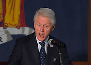 Elmont, New York, USA. April 5, 2016. Former President Bill Clinton, with intense expression, is the headline speaker as he campaigns at an Organizing Event rally in Elmont, Long Island, on behalf of his wife, Hillary Clinton, the leading Democratic presidential candidate, and former Secretary of State and U.S. Senator for New York. The New York Democratic Primary takes place April 19th.