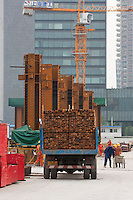 construction site in Shanghai China