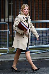 © Licensed to London News Pictures. 18/10/2016. London, UK. Education Secretary JUSTINE GREENING attends a cabinet meeting in Downing Street on Tuesday, 18 October 2016. Photo credit: Tolga Akmen/LNP