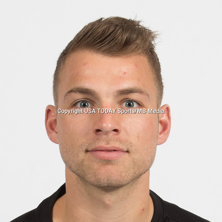 Feb 25, 2017; USA; DC United player Julian Buscher poses for a photo. Mandatory Credit: USA TODAY Sports