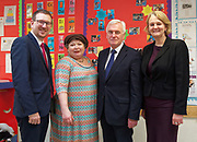London, United Kingdom - 7 March 2018<br /> EQUINOX PICTURE EXCLUSIVE - Labour Party Shadow Chancellor John McDonnell and Shadow Communities Secretary Andrew Gwynne visiting the Liz Atkinson Children's Centre, Lambeth, London, England, UK, They were visiting the centre to highlight Conservative austerity cuts to children's centres. Europe.www.newspics.com/#!/contact<br /> (photo by: EQUINOXFEATURES.COM)<br /> Picture Data:<br /> Photographer: Equinox Features<br /> Copyright: &copy;2018 Equinox Licensing Ltd. +448700 780000<br /> Contact: Equinox Features<br /> Date Taken: 20180307<br /> Time Taken: 12045624
