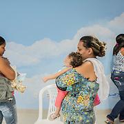 A group of mothers during a class at the rehabilitation center FAV (Fundação Atilio Valente) in Recife, Pernambuco
