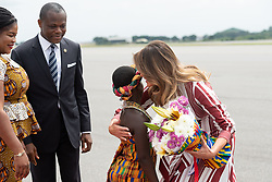 October 2, 2018 - Accra, Ghana, West Africa - First Lady MELANIA TRUMP arrives in Ghana for her first international solo trip (Credit Image: © Andrea Hanks/White House via ZUMA Wire/ZUMAPRESS.com)