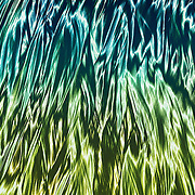 """""""Night in the Jungle""""<br /> <br /> A wonderful abstract image in shades of blue, aqua, green, and brown!"""