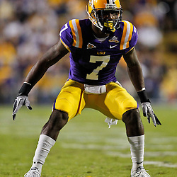November 13, 2010; Baton Rouge, LA, USA; LSU Tigers cornerback Patrick Peterson (7) on the field during the first half against the Louisiana Monroe Warhawks at Tiger Stadium.  Mandatory Credit: Derick E. Hingle