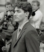 Young Justin Trudeau, now Prime Minister of Canada, at a state event.