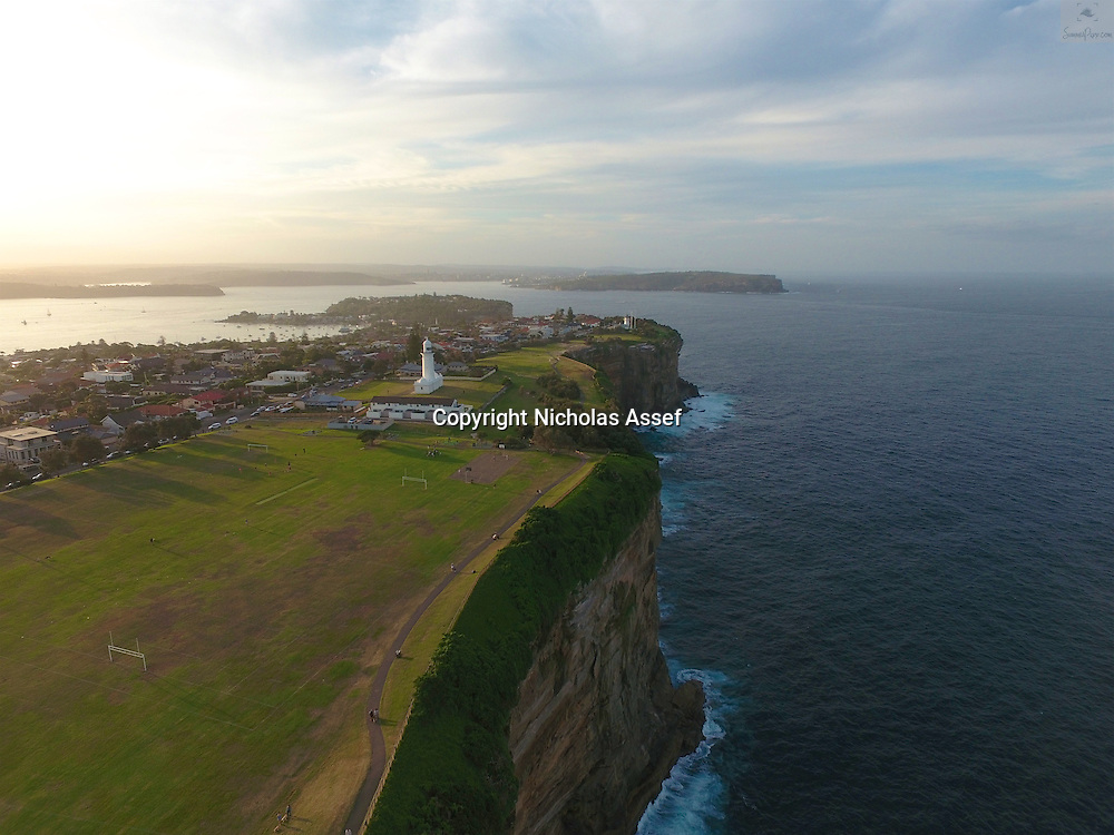 Looking northward along the Sydney clifftops to the Sydney Heads - the opening to Sydney Harbour