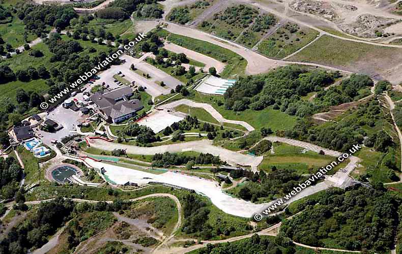 aerial photograph Ski Village  Sheffield West Yorkshire England UK