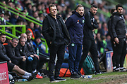 Forest Green Rovers manager, Mark Cooper watches on during the EFL Sky Bet League 2 match between Forest Green Rovers and Lincoln City at the New Lawn, Forest Green, United Kingdom on 2 March 2019.