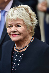 Judith Charmers leaves Westminster Abbey, London, following the Service of Thanksgiving for Sir Terry Wogan.
