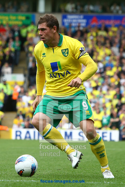 Picture by Paul Chesterton/Focus Images Ltd.  07904 640267.13/05/12.Grant Holt of Norwich in action during the Barclays Premier League match at Carrow Road Stadium, Norwich.