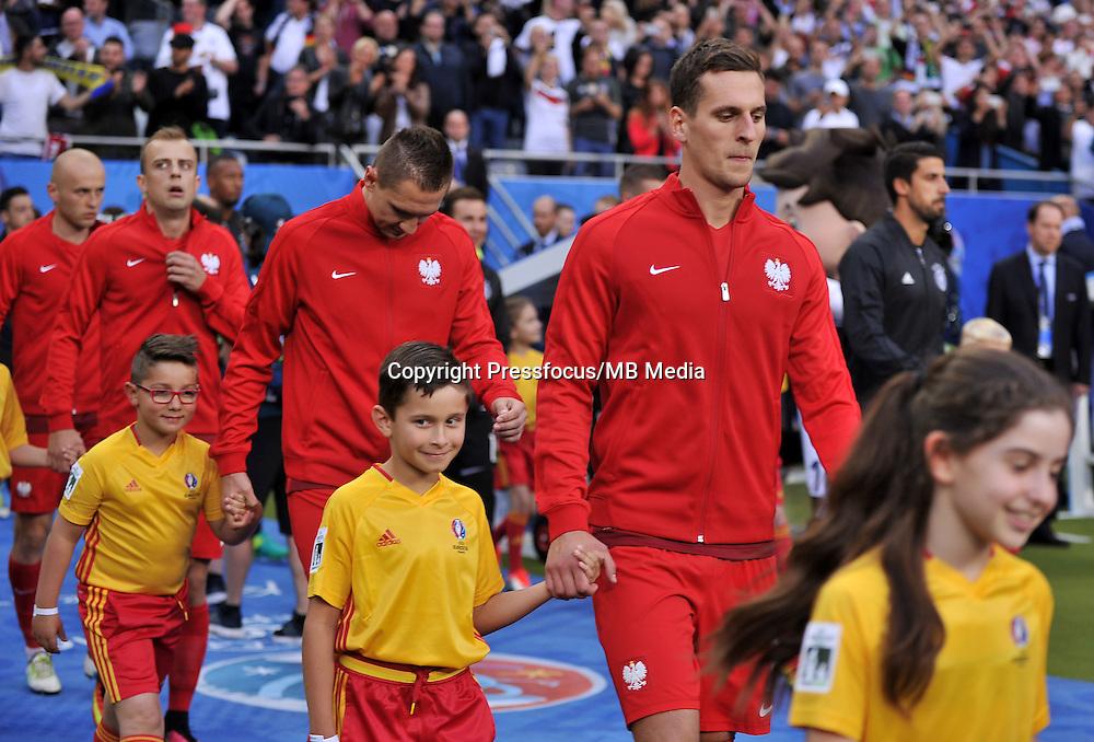 2016.06.16 Saint-Denis<br /> Pilka nozna Euro 2016<br /> mecz grupy C Polska - Niemcy<br /> N/z Arkadiusz Milik<br /> Foto Lukasz Laskowski / PressFocus<br /> <br /> 2016.06.16 Saint-Denis<br /> Football UEFA Euro 2016 group C game between Poland and Germany<br /> Arkadiusz Milik<br /> Credit: Lukasz Laskowski / PressFocus
