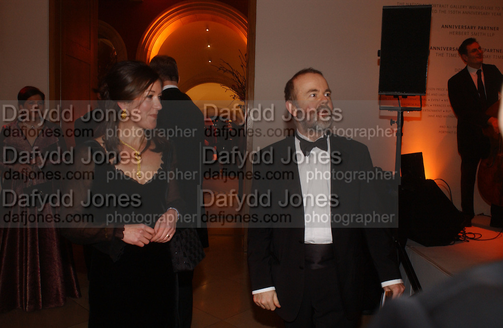 Ian and Victoria Hislop. National Portrait Gallery  150th Anniversary Fundraising Gala. National Portrait Gallery. London. 28 February 2006. ONE TIME USE ONLY - DO NOT ARCHIVE  © Copyright Photograph by Dafydd Jones 66 Stockwell Park Rd. London SW9 0DA Tel 020 7733 0108 www.dafjones.com