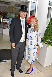 The Hon.Harry Herbert and Clodagh McKenna at The Investec Derby, Epsom Racecourse, Epsom, Surrey, England. 02 June 2018.