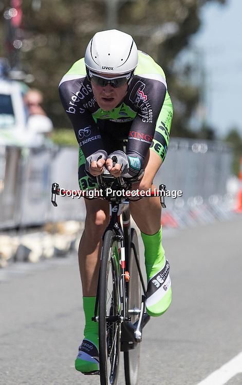 Elite men's time trial winner Michael Vink. Elite Road National Championship cycling. 9 January 2015. Christchurch. Photo: www.photosport.co.nz