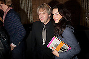 NICK RHODES; LAUREN KEMP, Launch of Nicky Haslam's book Redeeming Features. Aqua Nueva. 5th floor. 240 Regent St. London W1.  5 November 2009.  *** Local Caption *** -DO NOT ARCHIVE-© Copyright Photograph by Dafydd Jones. 248 Clapham Rd. London SW9 0PZ. Tel 0207 820 0771. www.dafjones.com.<br /> NICK RHODES; LAUREN KEMP, Launch of Nicky Haslam's book Redeeming Features. Aqua Nueva. 5th floor. 240 Regent St. London W1.  5 November 2009.