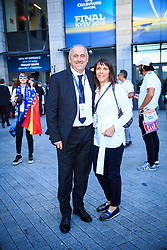 Radenko Mijatovic, president of Football Association of Slovenia (NZS) during the UEFA Champions League final football match between Liverpool and Real Madrid at the Olympic Stadium in Kiev, Ukraine on May 26, 2018.Photo by Sandi Fiser / Sportida