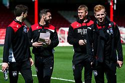 Bristol City assistant coache's Jamie McCalister and Dean Holden share a joke - Rogan Thomson/JMP - 01/04/2017 - FOOTBALL - Griffin Park - Brentford, England - Brentford v Bristol City - Sky Bet EFL Championship.