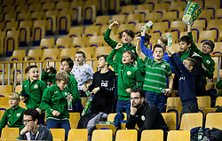 Supporters of Ilirija during basketball match between KK Ilirija and KK Petrol Olimpija in 10th Round of Nova KBM Basketball League 2017/18, on December 17, 2017 in Hala Tivoli, Ljubljana, Slovenia. Photo by Vid Ponikvar / Sportida