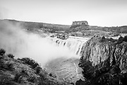 Shoshone Falls during really high water at sunrise during the spring.  Southern Idaho.