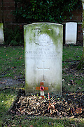 France, Thu 9 Dec. 2010: The gravestone of Captain Osbert Harold Brown, DSO, MC, who was killed in action on 1st November 1916. The grave is situated in the Brewery Orchard Cemetery in Bois Grenier. The cemetery contains the graves of 201 British, 125 Australian, 13 New Zealand and 5 German soldiers from the First World War.