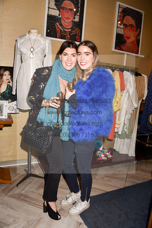 Left to right, Sarah Pearson and Tilly Pearson at the Seren London Launch Party held at Baar And Bass, 336 Kings Road, London England. 26 April 2017.